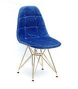 Стілець в скандинавському стилі оббивка оксамит Alex GD-ML ,колір синій в-1