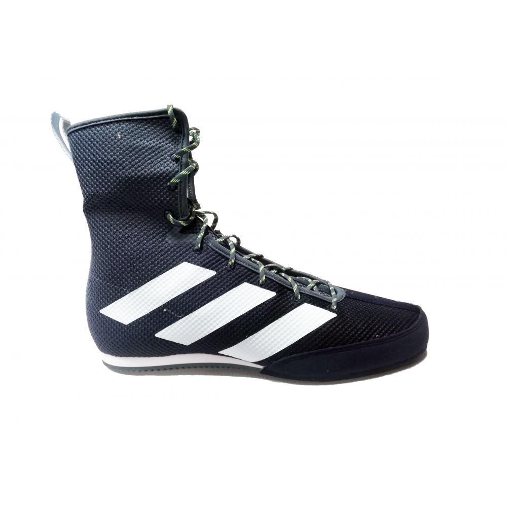 Обувь для бокса (боксерки) Adidas Box Hog 3 (cиние з белыми полосами, FV6585)