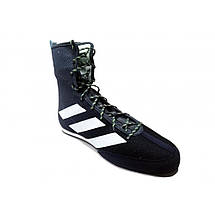 Обувь для бокса (боксерки) Adidas Box Hog 3 (cиние з белыми полосами, FV6585), фото 2