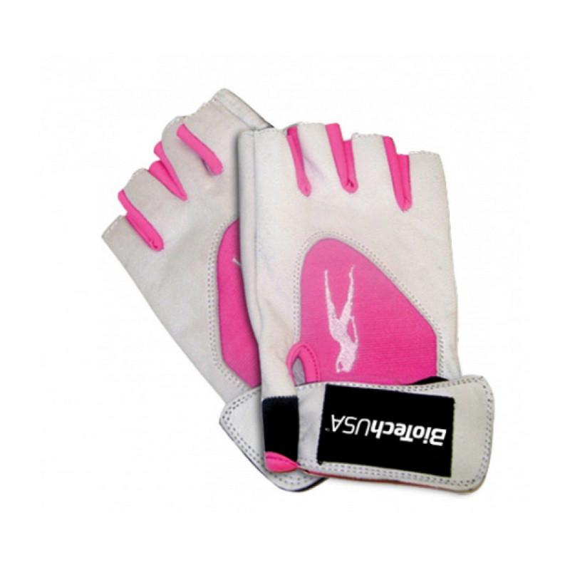 Перчатки в зал BioTech Pink Fit Gloves (white-pink)