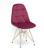 Стілець в скандинавському стилі оббивка оксамит Alex GD-ML ,колір бордо в-2