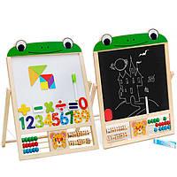 Деревянная игрушка Мольберт «Лягушонок», развивающие товары для детей.