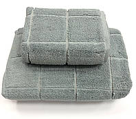 Рушник Gestepe Premium Kare 50-90 сірий, фото 1