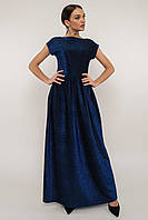 "Вечернее платье макси  ""МИРЕЛЛА"" ТЕМНО-СИНИЙ с 42 по 52  размер (римар)"