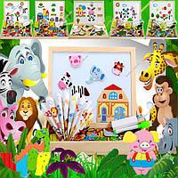 Деревянная игрушка Магнитные игры «Забавные картинки», развивающие товары для детей.