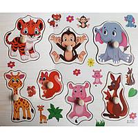 Деревянная игрушка Рамка-вкладыш «Интересные животные», развивающие товары для детей.