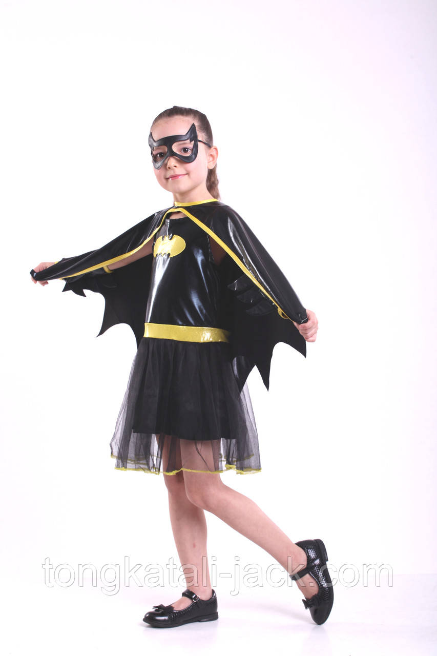 Костюм Бетмена для девочки, прокат карнавальных костюмов
