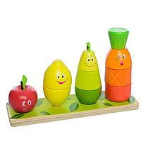 Деревянная игрушка Фруктовая пирамида, развивающие товары для детей.