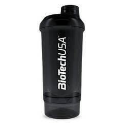 Шейкер спортивный BioTech Wave + 2 in 1 (500 мл)