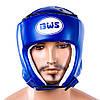 Шлем боксерский открытый BWS (р-р S, синий)