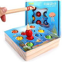 Деревянная игрушка Игра «Ловись рыбка», развивающие товары для детей.