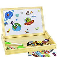 Деревянная игрушка Чемоданчик с фигурками «Космос», развивающие товары для детей.