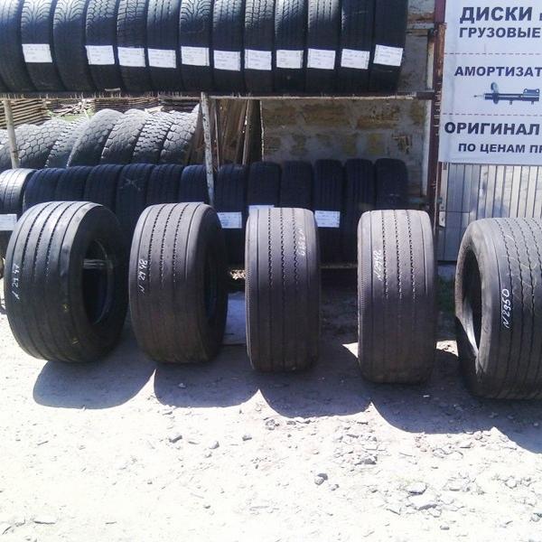 Шины б.у. 435.50.r19.5 Goodyear Fuel MaxT Гудиер. Резина бу для грузовиков и автобусов