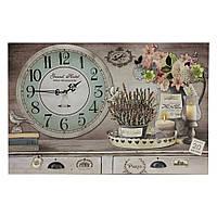 """Картина-часы с подсветкой """"Цветы в кувшине 60см"""" 109386"""