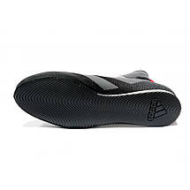 Обувь для бокса (боксерки) Adidas Box Hog 3 (черные з серыми полосами, FV6586), фото 3