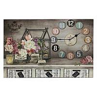 """Часы-картина с подсветкой """"Композиция в домике 60см"""" 109385"""