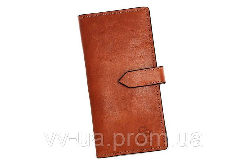 Портмоне Grande Pelle, коньяк, кожаный (524623)