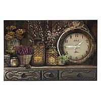 "Картина-часы с подсветкой ""Лаванда на комоде 60см"" 109384"