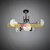 Припотолочная люстра на 6 ламп с круглыми плафонами 045/6
