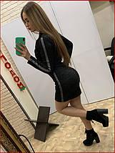 """Платье """"Zmeyka"""" с лампасами / чёрный, фото 2"""