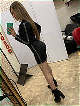 """Платье """"Zmeyka"""" с лампасами / чёрный, фото 3"""