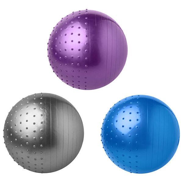 Мяч для фитнеса 65 см комби (1000гр) серебро синий фиолетовый