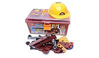 Набор детских инструментов с каской в чемодане (48 предметов)