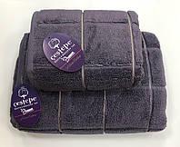 Рушник Gestepe Premium Kare 50-90 сливовий, фото 1