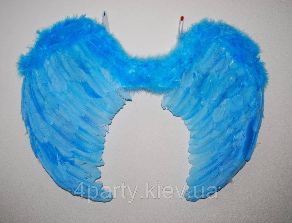 Крылья перьевые голубые 45х35 240216-575