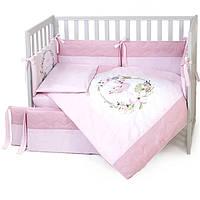 """Постельный комплект для новорожденных  Veres  """"Flamingo Pink""""  6ед, фото 1"""