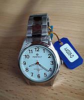Часы мужские с японским механизмом Perfect A4009D серебристые белый циферблат браслет метал