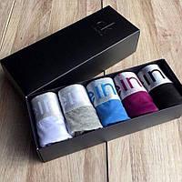 сk Steel боксеры модал подарочный набор мужского белья мужские труси Calvin Klein 5 шт  + носки