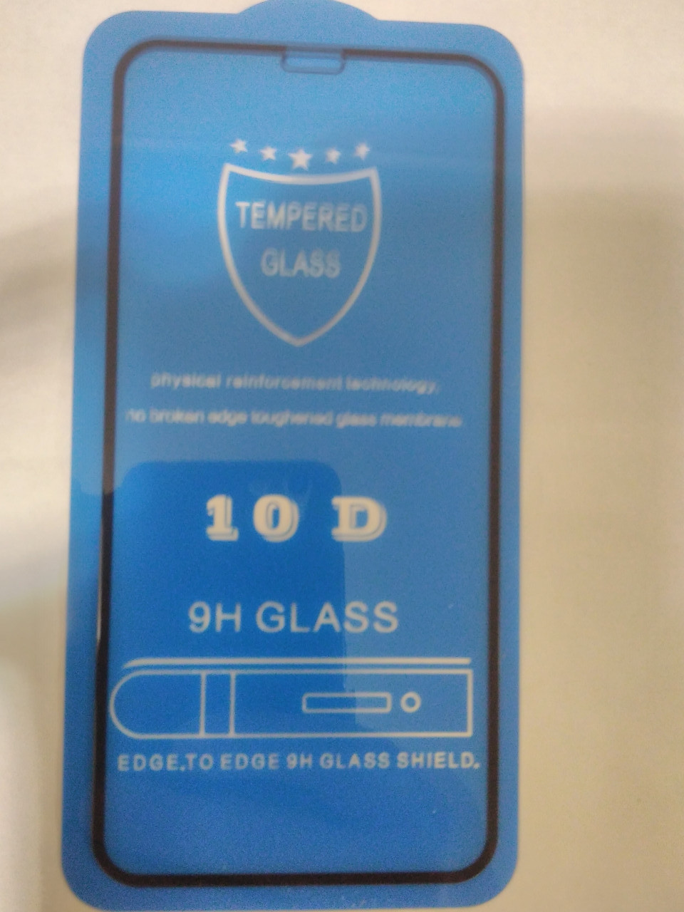 Защитное  стекло 10D  для  iPhone  11 Pro 2019 // X / Xs  5.8  (черн.)