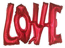 Фольгированный шарик LOVE красный 1292