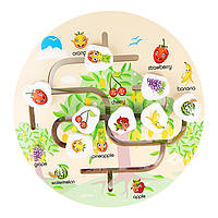 Деревянная игрушка Бродилка «Фруктовый сад», развивающие товары для детей.