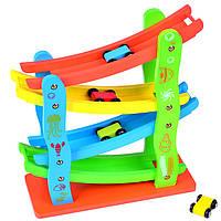 Деревянная игрушка Автотрек «Скоростная машина», развивающие товары для детей.