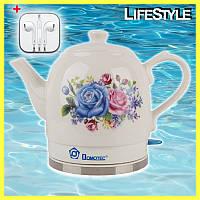 Электрический чайник Domotec MS-5052 + ПОДАРОК!!! Наушники Apple iPhone
