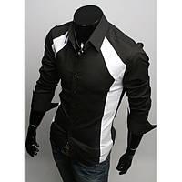 Рубашка мужская модная (Черный)