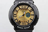 Часы наручные Casio Baby-G BGA-160 Black - Gold CA1858