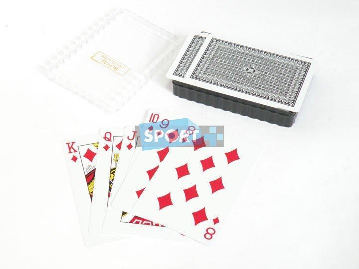 Карты для покера из пластика с матовым покрытием - 54 шт. S2