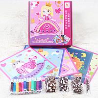 Деревянная игрушка Набор для творчества «Принцесса», развивающие товары для детей.