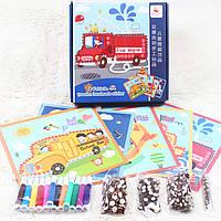 Деревянная игрушка Набор для творчества «Транспорт», развивающие товары для детей.