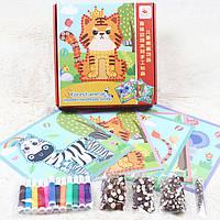 Деревянная игрушка Набор для творчества «Экзотические животные», развивающие товары для детей.