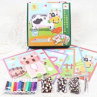 Деревянная игрушка Набор для творчества «Домашние животные», развивающие товары для детей.