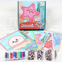 Деревянная игрушка Набор для творчества «Морские животные», развивающие товары для детей.