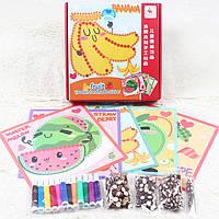 Деревянная игрушка Набор для творчества «Фрукты-ягоды», развивающие товары для детей.