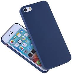 Матовый чехол iPhone 5 5S SE (силиконовая накладка) (Айфон 5 5С СЕ)