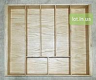 Лоток для приборов из дуба Lot a207 500х500. (индивидуальные размеры), фото 1