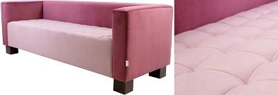 Диван трехместный Спейс розовый - картинка
