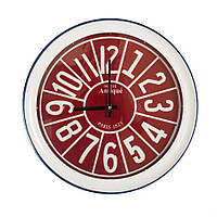 Часы настенные в мет.корпусе (красные) 43 см 108455